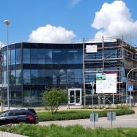 Bürogebäude im Bau